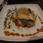 Panfried Seabass Fillets served with Baby Potatoes