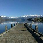 Our beautiful jetty on Lake Wanaka