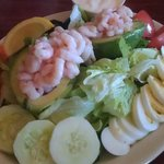 Shrimp stuffed Avacado Salad