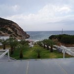 view from the rooms at the milos golgen beach hotel
