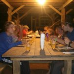 cena en la montana