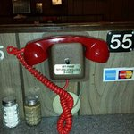 Order your food from one of these phones when dining inside.