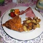 Ham & Cheese Quiche with Ham