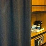 Closet and coffee pot