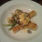 Gnocchi with wild mushrooms (V)