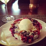the fruit cobbler.  it was light, crispy, fresh - and tasted DIVINE!!!