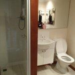 Clean, neat bathroom