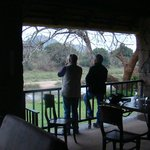 Outside balcony area