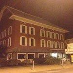 The Inn at night. Creepy.