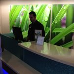 Bright Lobby & Friendly Topher checking us in