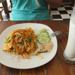Pad Thai and banana shake