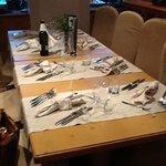 una delle maniere in cui era preparato il ns tavolo