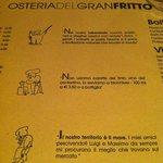 Consigli del menu