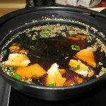 Soup at Kharkov Tanuki restaurant