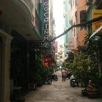 Callejón donde estaba el hotel
