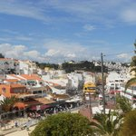 View of the local town Carvoeiro - bars, restaurants, shops, beach
