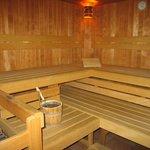 unsere finnische Sauna wird individuell für Sie eingeheizt
