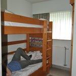 chambre de 2pers avec lits superposé
