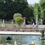Miniature sail boats in the pond at Jardin du Luxembourg