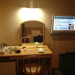 TV and desk/mirror