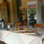 la colazione a buffet
