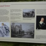 One of the information boards around the castle.