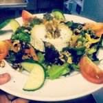 Our Warmed Goats cheese and Walnut salad