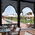 Terrasse du restaurant  Le Pavillon