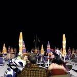 La serata dei fuochi d'artificio al Bagno Serenella