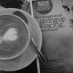 Enjoy a freshly ground coffee and a browse of a cycling magazine