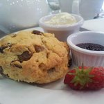 Home baked scone with home made jam