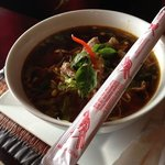 Beef noodle soup at tuptimthai