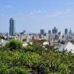 北野天満神社から神戸市内の眺め