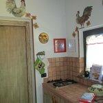 """decorazioni della cucina della """"casa del gallo"""""""