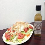 Chicken Greek Salad with our homemade Papa Soc's Authentic Greek Dressing