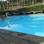 view of pool from apartment