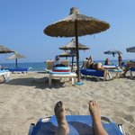 la plage privée