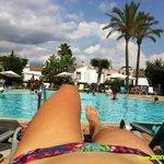Poolside relaxing