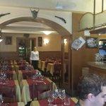 Empty restaurant during main season