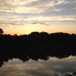 Sunset at the Boathouse at Rocketts Landing