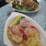 Crab melt sandwich...  Delicious!