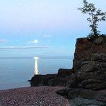 full moon on Lake Superior in July