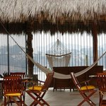 Furnishings in the palapa; room for eating, visiting, and relaxing