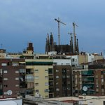 View of Sagrada Familia from Roof top