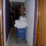 Trolley in the corridor all the time!