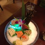 22 piece sashimi dinner at Bamboo House