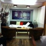Sala da suíte, onde os meus filhos dormiram