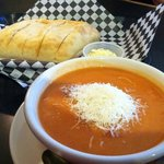 Tomato bisque soup, very tasty.