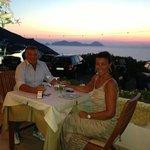 La cena al tramonto