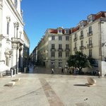 You walk out of hotel to this beautiful area, adjacent to Rossio Square.